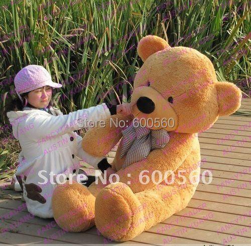 Fancytrader Light Brown JUMBO 63'' Giant Stuffed Teddy Bear Free Shipping FT90059(China (Mainland))