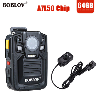 BOBLOV HD 1290P Police 33MP Security External IR Infrared Lens Body Worn Camera Night Vision Motion Detection Portable Personal