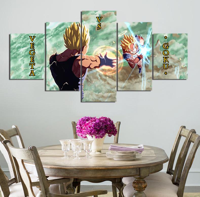 5 Pieces Cartoon Dragon Ball Z Goku Vs Vegeta Modern Home Wall Decor Canvas  Picture Art HD Print Painting On Canvas Artworks. Online Get Cheap Dragon Ball Z Pictures Vegeta  Aliexpress com
