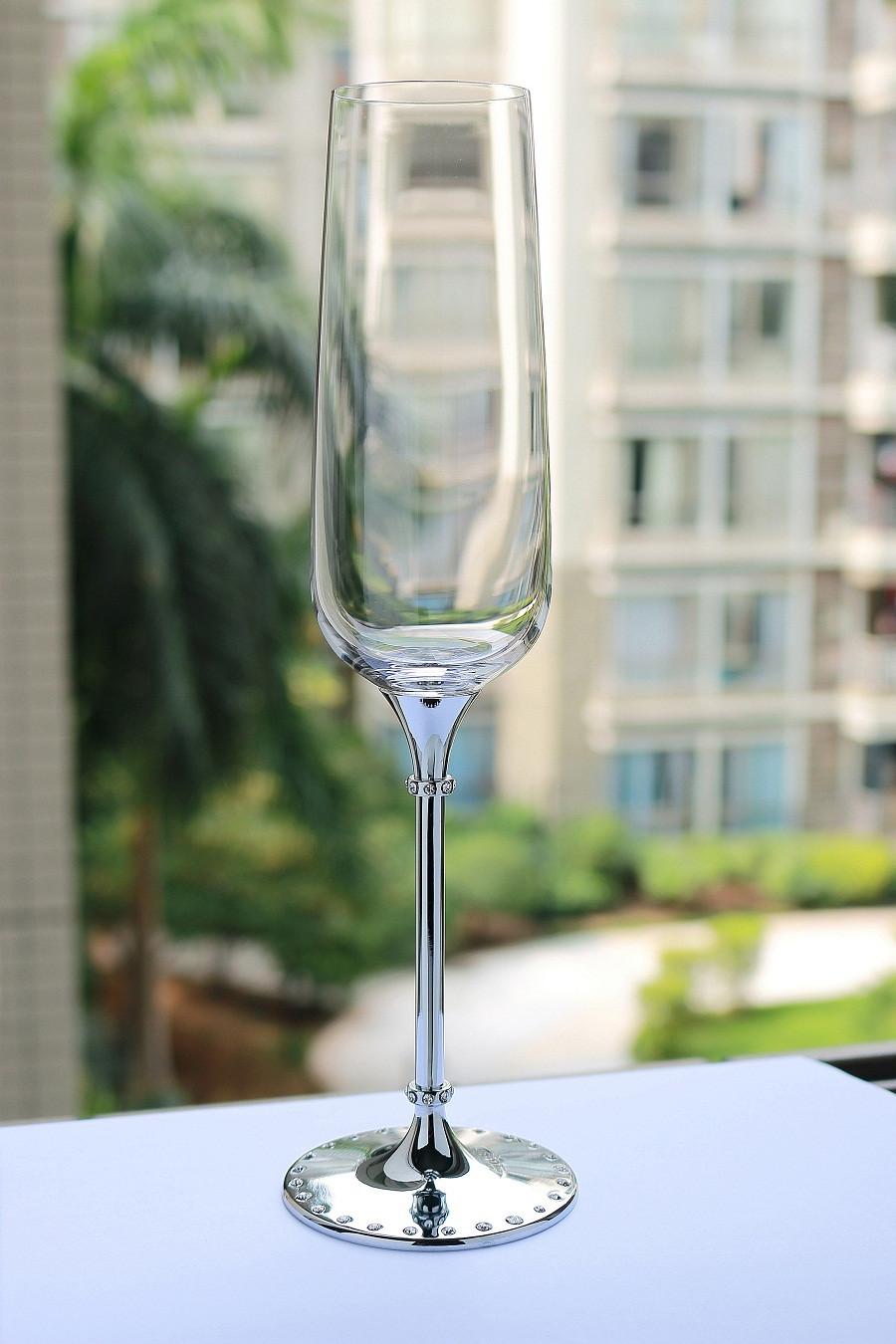 Decoratieve champagne fluiten promotie winkel voor promoties decoratieve champagne fluiten op - Loodvrije kristal ...