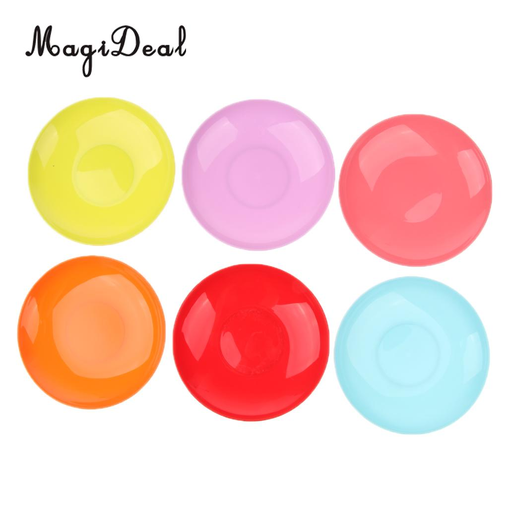 6 Pieces  Portable Plastic Picnic Camping BBQ Party Dinner Plates Cutlery, Lightweight and Convenient to Carry