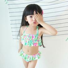 2016 Children Swimsuit Girls Maillot De Bain Fille Baby Cute Cake Multi-Split Mermaid Swimsuit Biquini Infantil Menina Swimwear