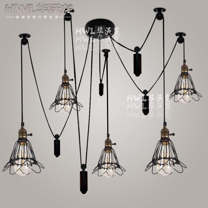 buy kitchen vintage pulley light fixture pendant light lustre de sala wheel