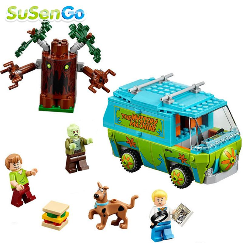 2016 the Mystery Machine Scooby Doo Bus Minifigures Building Block DIY Baby Toys for Children Gift Compatible With Lego 10430(China (Mainland))