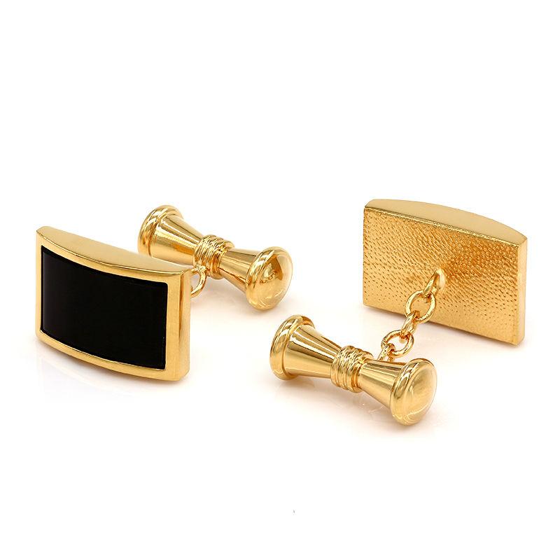 Black Onyx Chain Cufflinks Shirt Cuff for Men Wedding Wholesale Gift(China (Mainland))