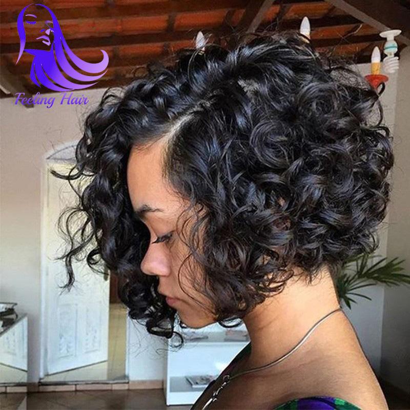 7A Short Human Hair Bob Wigs Glueless Full Lace Human Hair Wigs For Black Women Virgin Brazilian Wavy Front Lace Wigs Bob Wig(China (Mainland))