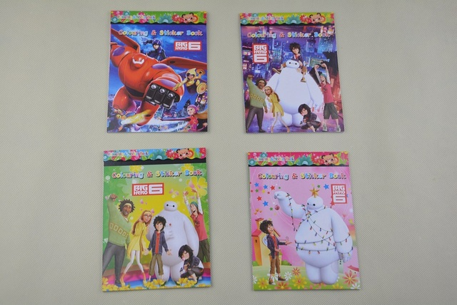 1 x Big Hero 6 Coloring Book 16 Pages with 2 Pages Stickers Gift for Kids
