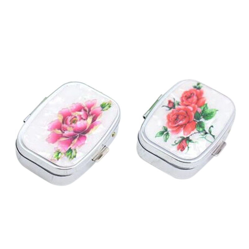 New Fashion Mini Portable Folding Pill Case Vitamin Drug Medicine Organizer Box Pill Boxes Makeup Travel Storage Case Container(China (Mainland))