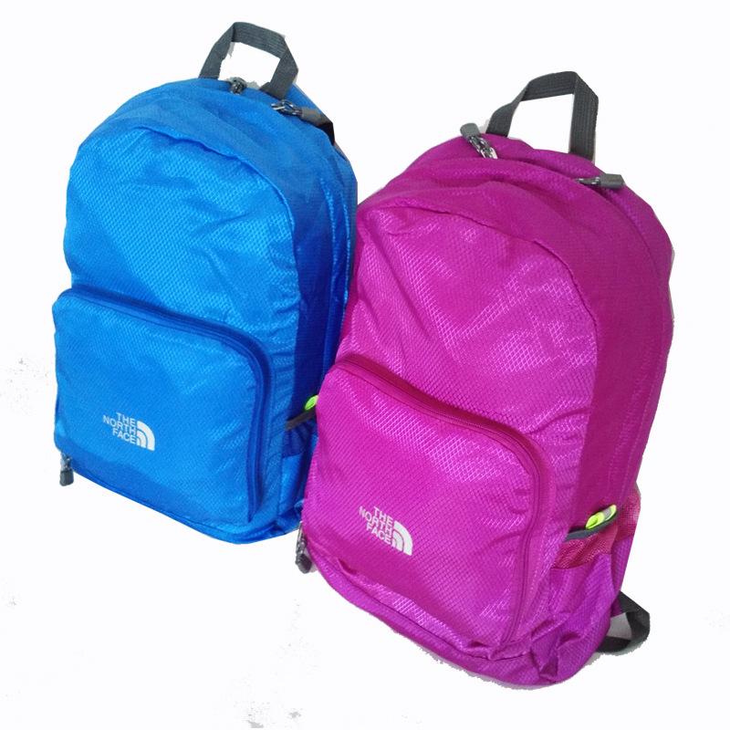 2016 Portable Fashion Travel famous Backpacks Zipper Soild Nylon Back Pack Daily Traveling Women men Shoulder Bags Folding Bag(China (Mainland))