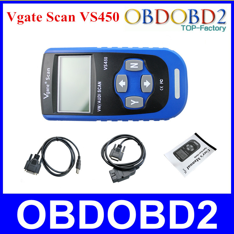 Best Quality VS450 Vgate Scan VS 450 OBDII Scan Tool Reset Oil Light Fault Code Scanner Free Shipping(China (Mainland))