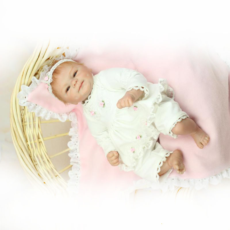 2015 New Arrival 18inch/ 45cm Handmade Silicone Reborn Baby Doll Top Quality  Little Princess doll Best Gift  vinyl toddler toys<br><br>Aliexpress