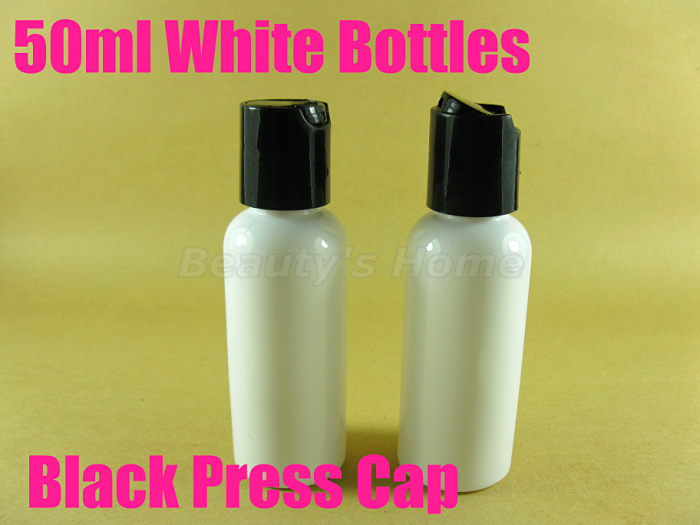 50ml Press cap White bottle comestic make container small/empty bottles #2110 - Packing Supplier(Bottles and Jars store)