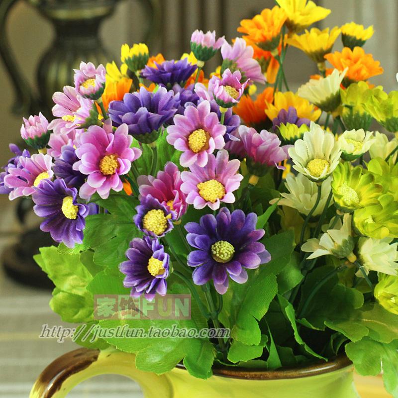Furnishings fun little daisy 30 millenum artificial flower silk flower home decoration wedding gift(China (Mainland))