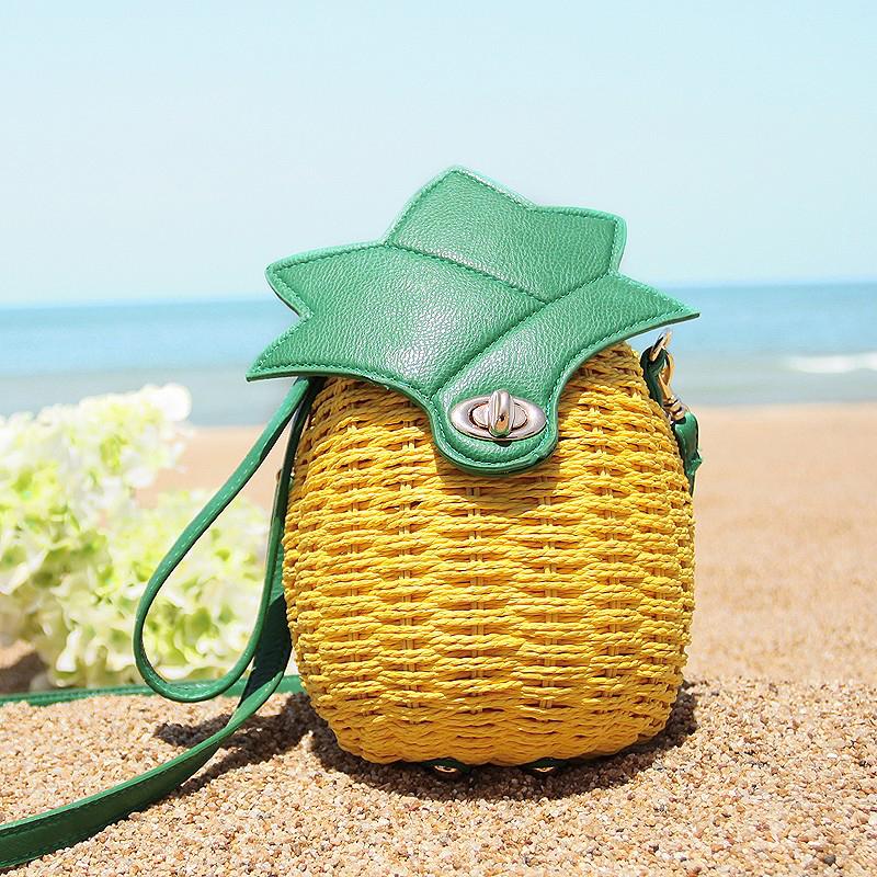 Hot women beach bag ladies straw Rattan shoulder bags Weave manual messenger bags for girls women's summer crossbody bag XJ280(China (Mainland))