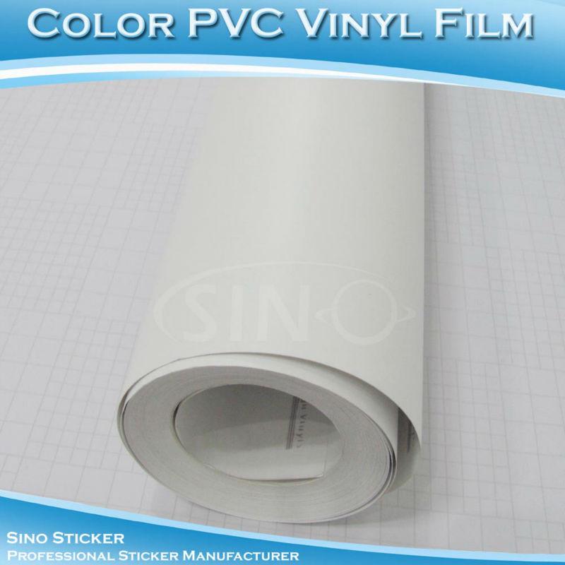1.06x36M Hot Sale KK Matt White Opaque Colorful PVC Vinyl Film Advertising Car Decal Stickers(China (Mainland))