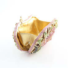 2015 New Year Gift Elegant Women Bag Prom Evening Women Purses Diamonds Crystal Bag Clutch Bags