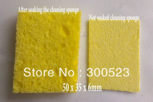 High quality soldering iron tip cleaning sponge, 50 x 35 x 6mm, 10pieces/lot, free shipping(China (Mainland))