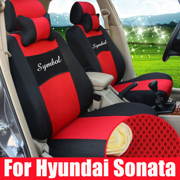 Custom car covers for hyundai sonata seat covers interior car accessories set sandwich car seats spare parts styling with logo(China (Mainland))