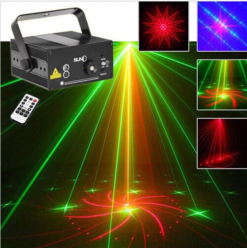 Remote 300mw 40 Big Gobos RG Laser+ BLUE LED Stage Lighting DJ Party show Light(China (Mainland))