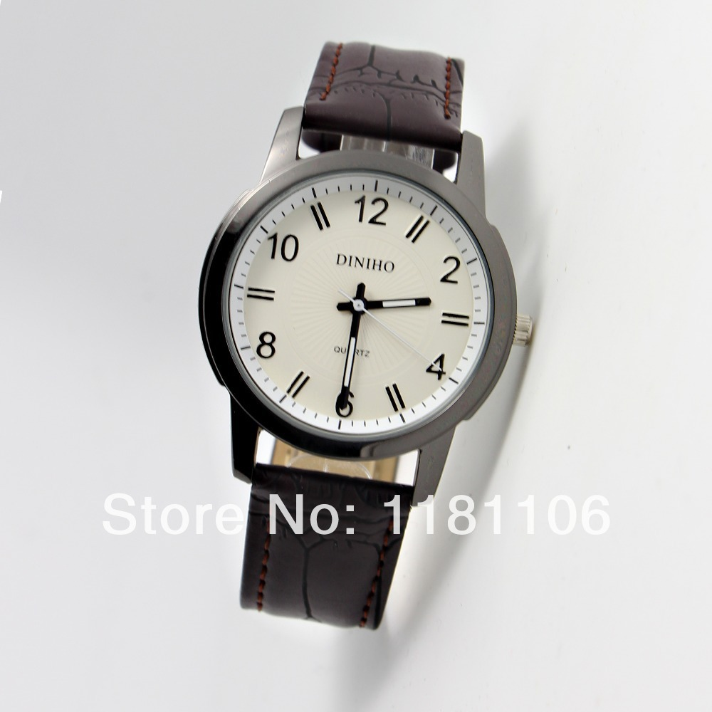 , men's fashion leather watch, famous brand watches, quartz watch  -  13413630 store
