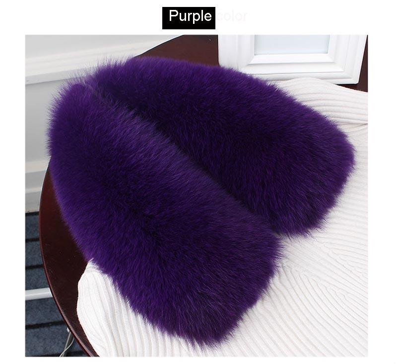 fox fur collar purple 1