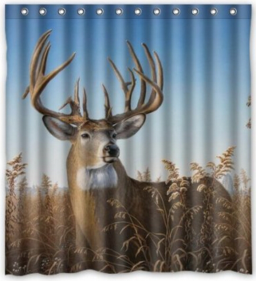 """Fitted Bathroom Home Decoration,Deer Art Shower Curtain, Shower Rings Included,Polyester Waterproof 60"""" x 72""""(China (Mainland))"""