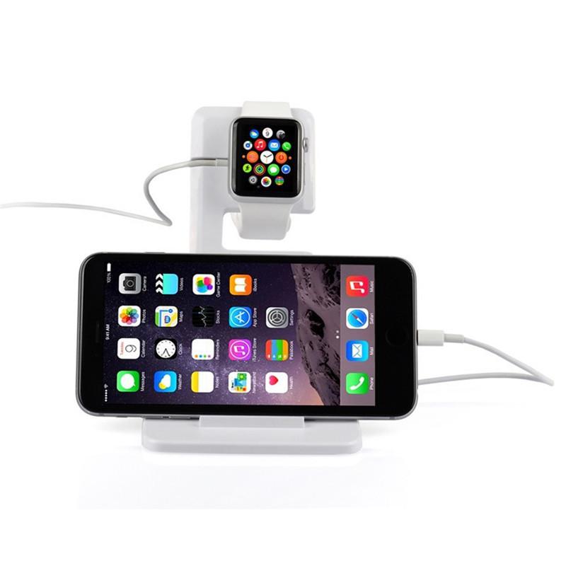 Портативный рабочего многофункциональный USB подставка док зарядное зарядка стенд держатель для Apple , часы iPhone iPad
