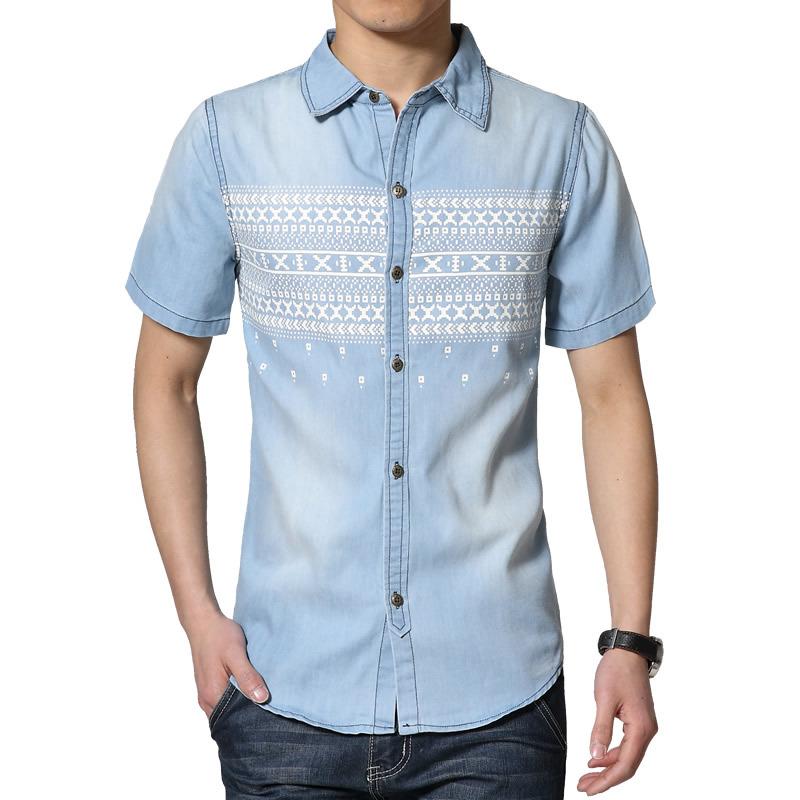 Buy top quality men 39 s casual denim shirt for Buy denim shirts online