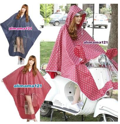2015 Fashion EVA Raincoat Electric Bicycle Bike RainSuit Women Winter Cloak Female Outdoors pole waterproof motorcycle jacket(China (Mainland))