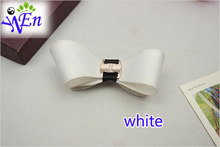 1 pair yellow bowtie fabric shoes clip glass beads shoe accessories with glue B368(China (Mainland))