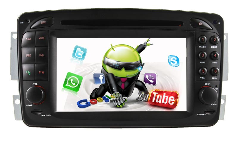 CAR DVD Android 5.1/1.6 GHZ GPS For Benz Viano/Vaneo car audio with Reversing Track function with Fiber decoder functions(China (Mainland))
