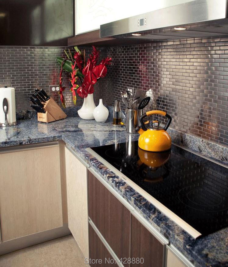 Stainless steel subway tiles