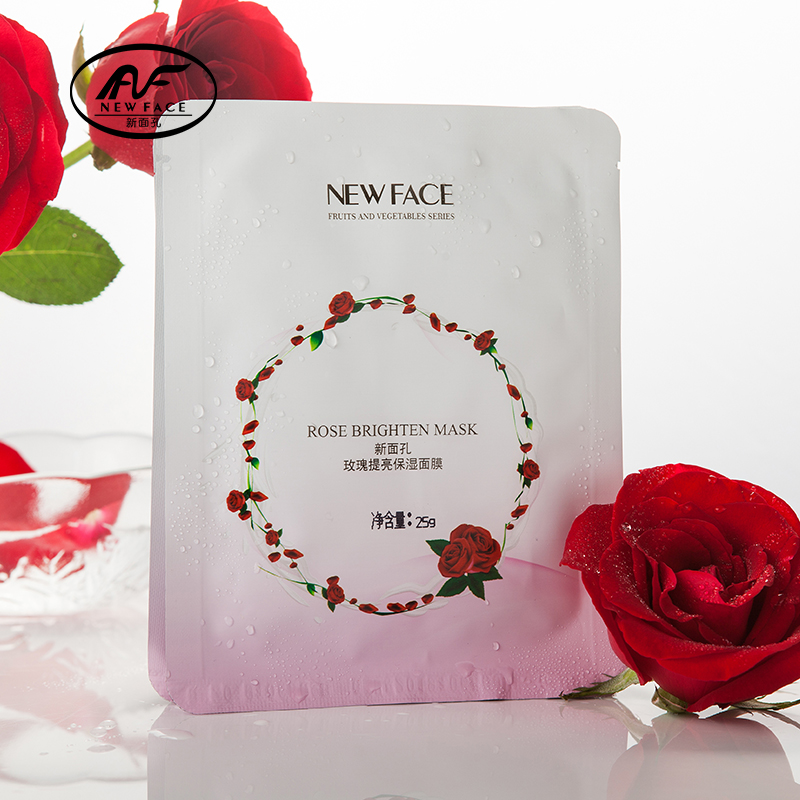 NewFace ROSE FACIAL MASKS Face care mineral silk masks hydrating moisturizing brightening whitening best for dehydrated skin(China (Mainland))