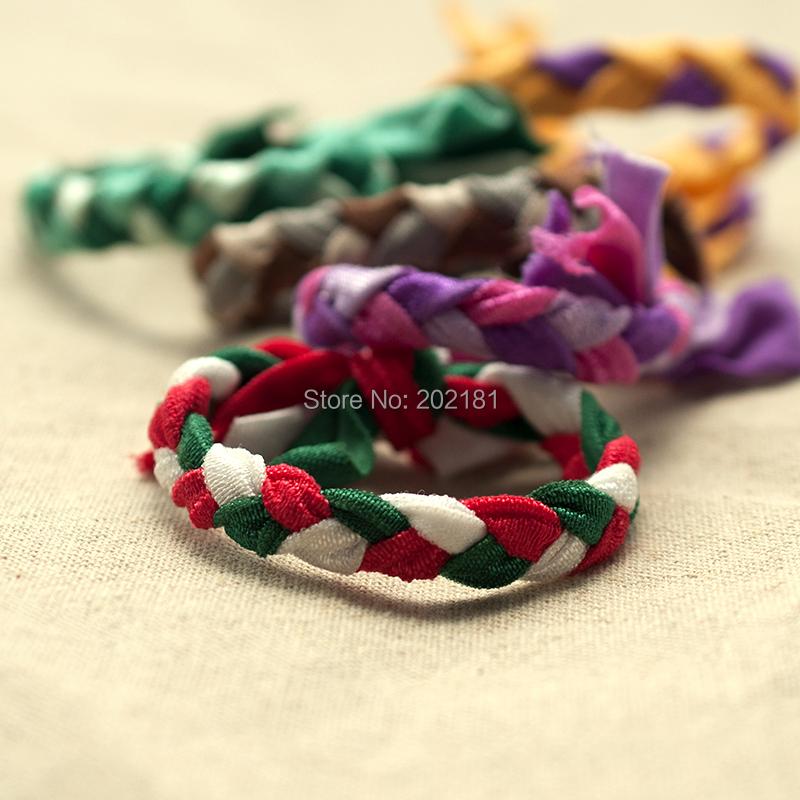 30 colors Braids plaits Hairband Rope 100pcs/lot Ponytail Holder Elastic Hair Band Ties Emi Jay Like Hair Ties(China (Mainland))