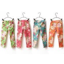 Pattern Printed Baby Girls Pants Feet Trousers Toddler Jeans Pencil Pants Skinny