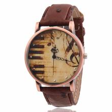 Relojes Mujer 2015 nueva amante de cuarzo reloj Relojes Mujer hombre alta calidad de cuero de notación Musical reloj relogio feminino