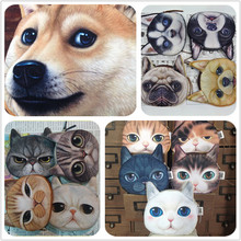 Novelty coin purses Cute Dog Face Cat Face Zipper Case Coin Purse Wallet Zipper Case purse Makeup Buggy Bag Pouch Clutch Bag(China (Mainland))