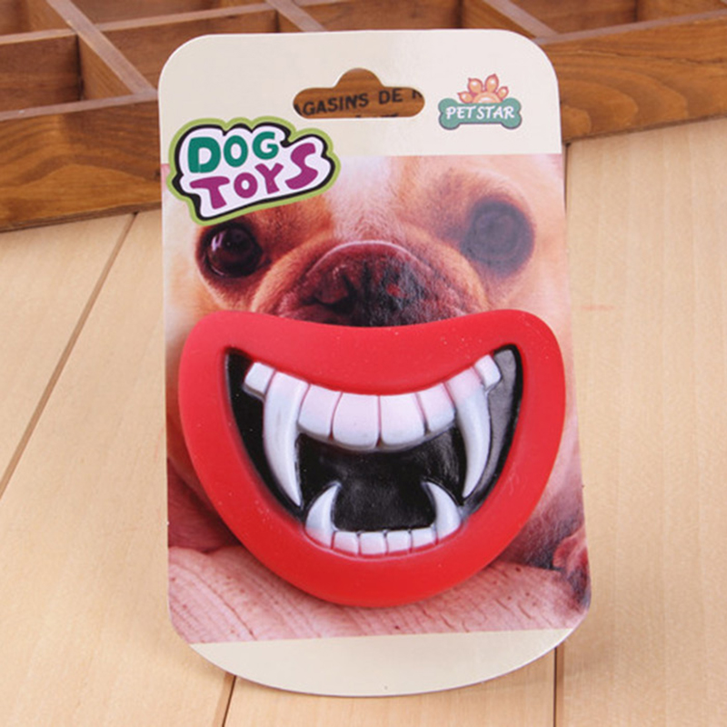 Funny Squeak Pet Dog Toys Devil's Lip Sound Dog Playing/Chewing Safe non-toxic Pet's Best Gift Make The Dog Happy Halloween toys(China (Mainland))