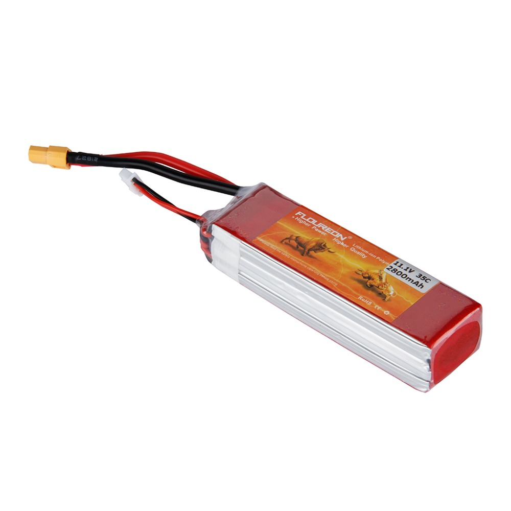 2015 New FLOUREON 3S 11.1V 35C 2800mAh Lipo RC Battery XT60 for RC Helicopter RC Airplane RC Hobby(China (Mainland))