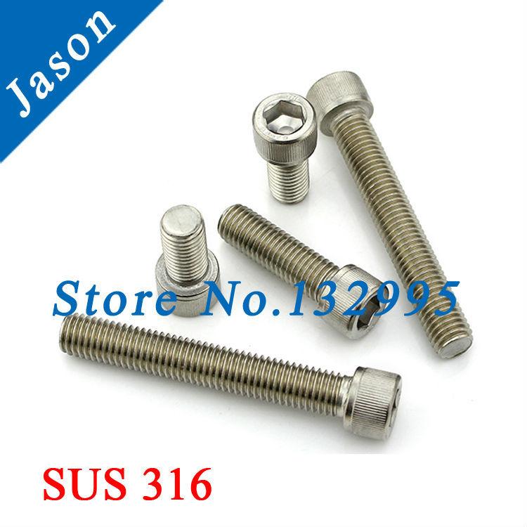 M4*30   DIN912  Stainless Steel A4 Hex Socket Head Cap Screw  SUS 316 DIN912 M4*L<br><br>Aliexpress