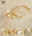AG Series Golden Polished Space Aluminum Soap Dish Holder Net Bathroom Accessories Wall Mounted Soap Network