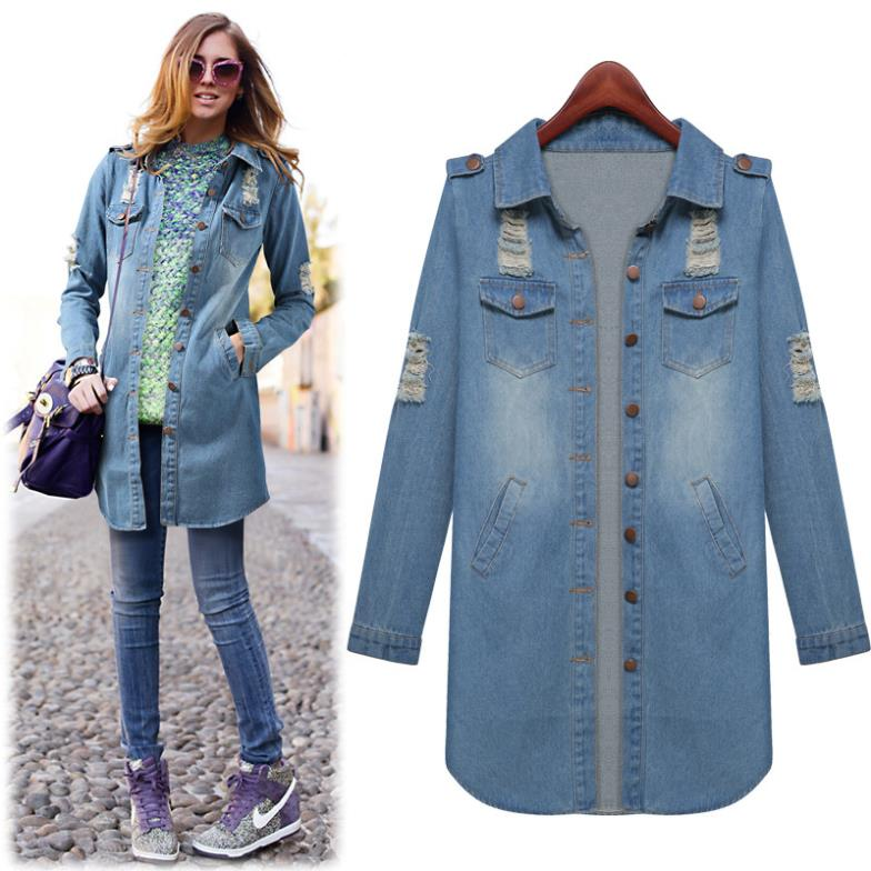 Long Denim Jackets For Women - JacketIn