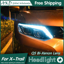 Buy AKD Car Styling Nissan Rouge Headlights 2014-2015 X-trail LED Headlight Signal LED DRL Bi Xenon Lens High Low Beam Parking for $486.85 in AliExpress store