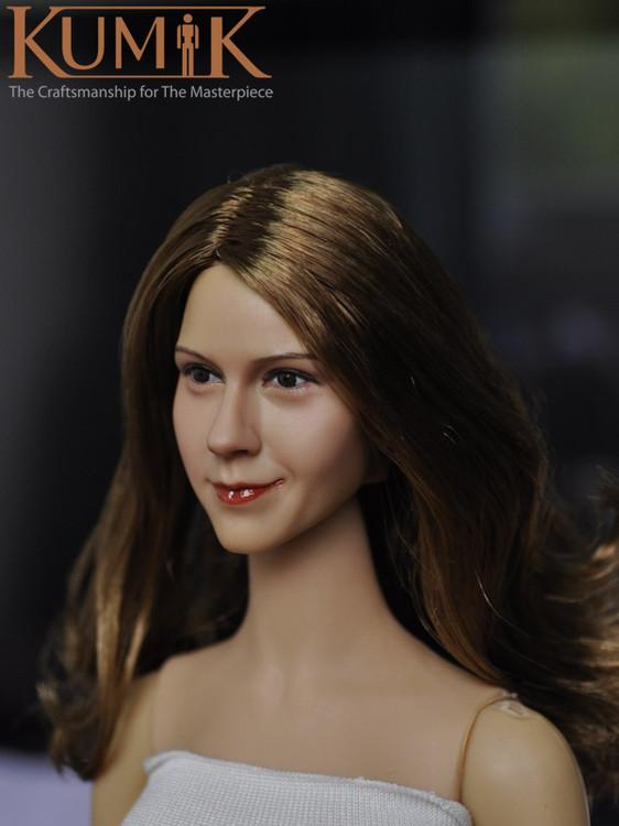 1/6 Head Sculpt KUMIK 15-14 Hot Sideshow Toys TTL Enterbay Custom female Girl