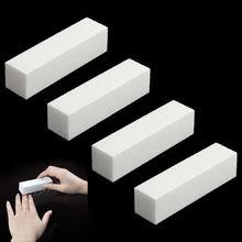 4 Pcs/Lot Nail Art Buffer File Block Pedicure Manicure Buffing Sanding Polish White Makeup Beauty Tools(China (Mainland))