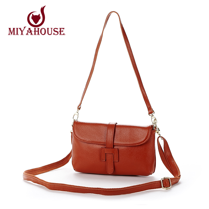 Fashion Small Bag Women Messenger Bags Cow Leather Crossbody Bag Clutches Bolsas Femininas