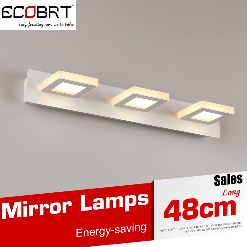Modern 9W Led Wall Lamps White Light For Bathroom Wall Lighting Led LED Mirror Lights 48cm AC220V/110V Acrylic Sconces Lamps(China (Mainland))