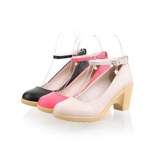 ENMAYER New 2015 Basic Closed Toe Round Toe women pumps Plain Rubber Platform pumps Spring / Autumn Sweet shoes women<br>