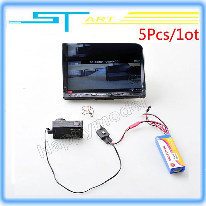 5Pcs DIY Mini Transmitter image transmission 200MW 5.8Ghz FPV Audio Video AV Antenna for F450 F550 Gopro Camera