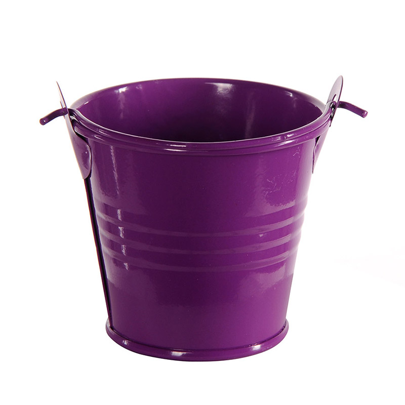 9pcs Colorful Mini Metal Bucket Candy Favours Box Pail Wedding Party Gifts(China (Mainland))